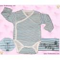 Langermet T-Skjorte med gutt motiv - Marine/Lyseblå