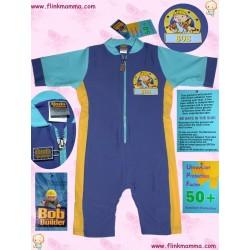 Badedrakt UPF50+, blå/gul BOB